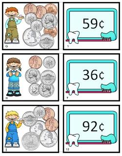 Math Game: I Love 2 Teach: Money Match Game {Monday Freebie}
