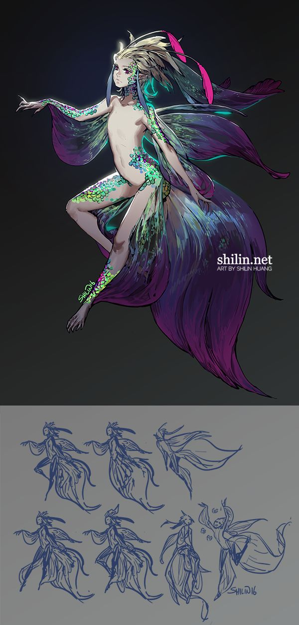 Mermaid - design for patreon by shilin.deviantart.com on @DeviantArt