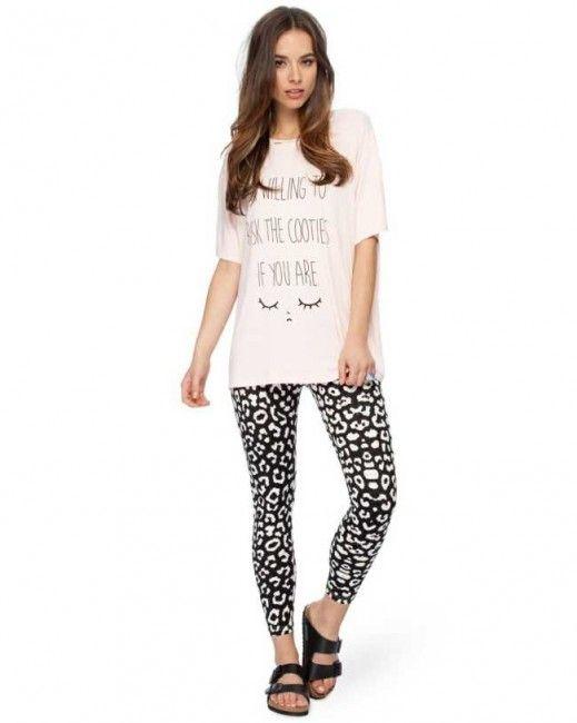 Monochromatic Flock Stretch Leggings - $30.00 - Womens Clothing, Fashion Clothes Australia