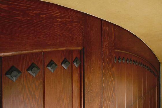 29 best decorative door hardware images on pinterest for Wood veneer garage doors