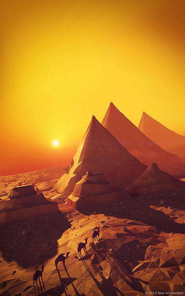 geeft een gevoel van dat je niet klaar bent, de reis dat je maakt stopt hier nog niet, ook vindt ik de zon sfeer en schaduwen  perfect bij de piramides