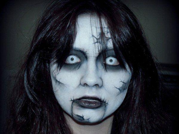 Gesicht Schminken narben Halloween Horror helden