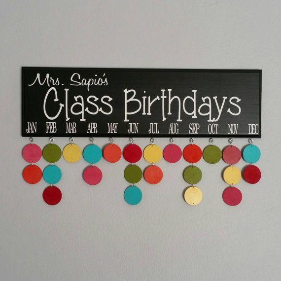 Idea para poner los cumpleaños