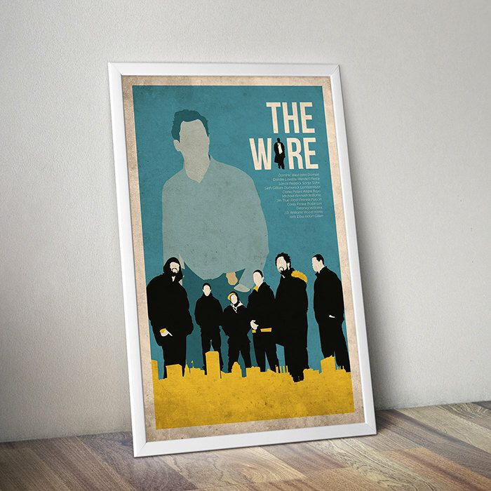 The Wire poster alternative tv poster tv poster Crime show poster Baltimore poster Maryland poster City poster Omar Idris Elba Dominic West by TheCelluloidAndroid on Etsy https://www.etsy.com/uk/listing/223750784/the-wire-poster-alternative-tv-poster-tv