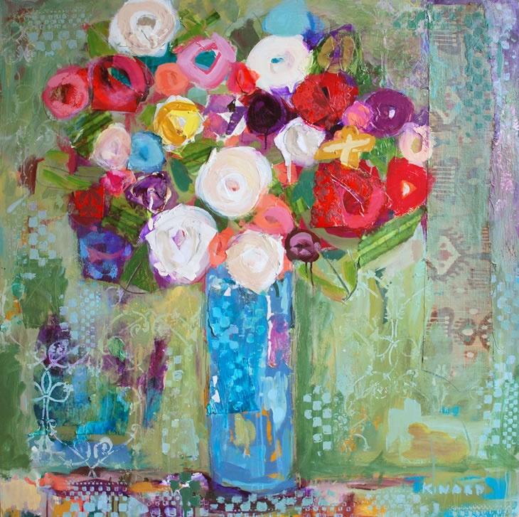 Love Is a Rose: Love Paintings, Art Illustrations, Atlanta Artists, Art Inspiration, L Art, Artists Christy, Rose Christy Kinard, Flower, Colors Inspiration