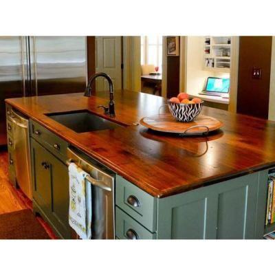 Nice Wood Countertop Sample In Distressed Black Walnut Plank