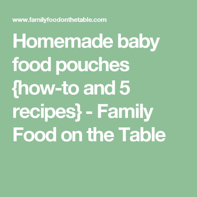 Homemade baby food pouches {how-to and 5 recipes} - Family Food on the Table