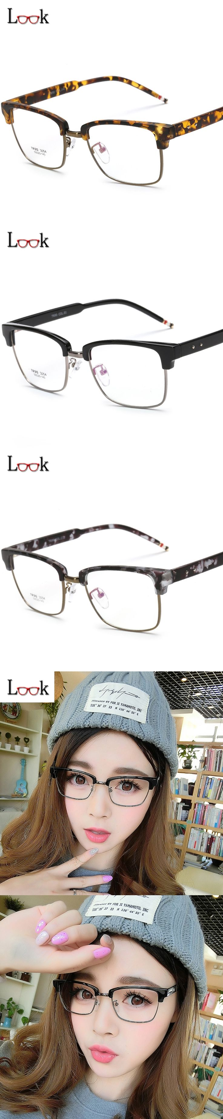 New 2017 Optical Glasses Frame Lentes Opticos Eyeglasses Fashion Eye Glasses Frames For Women Men Vintage Prescription Eyewear