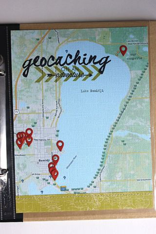 Geocaching Map Layout by Heather Nichols for Papertrey Ink (July 2014)