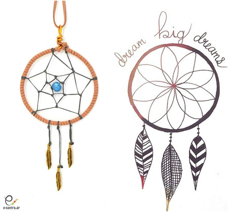 <Dream big dreams>..and learn how to make this beautiful dreamcatcher pendant..only at e-xantra.gr