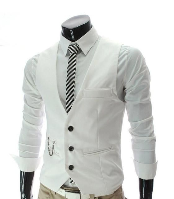 Men Suits 2016 fashion male quality slim fit leisure cotton suit vest/Men pure color fashion BLAZERS/Male high-end business and vest