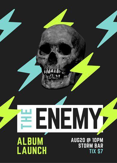 Skull Rock Band Album Launch Flyer