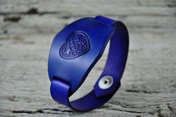 Celtic Heart Leather Bracelet by Northernleather on Etsy, $19.95