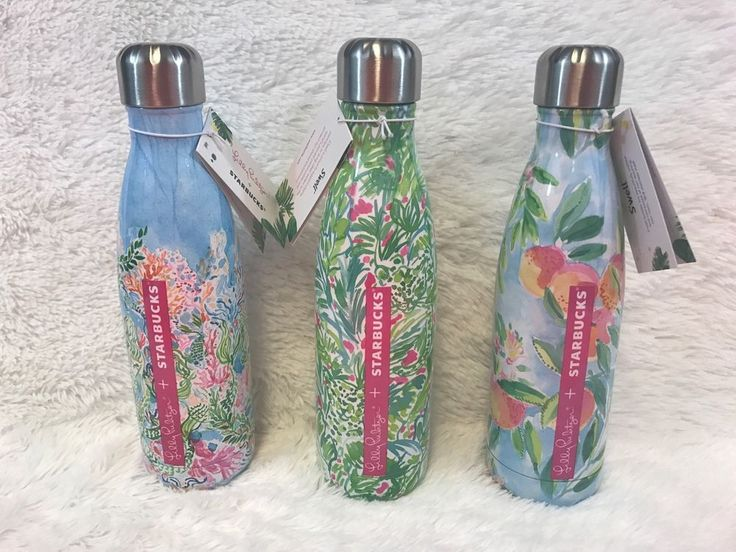 Lot of 3 NEW Starbucks Swell bottles By Lilly Pulitzer Limited Editions SOLD OUT #swell