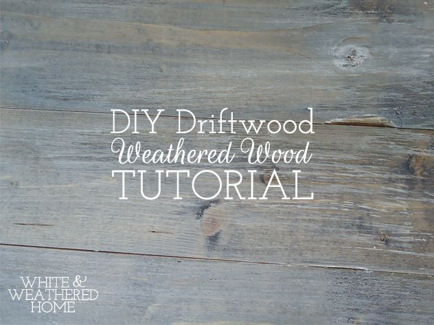 """DIY Driftwood: Weathered Grey Wood Finish Tutorial. The """"comment"""" about making your own stain out of a steel wool pad and vinegar is worth trying."""