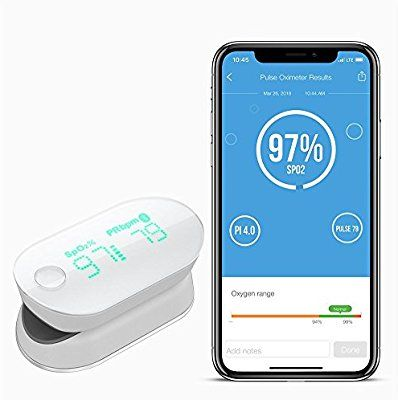 Amazon com: iHealth Air Wireless Fingertip Pulse Oximeter with