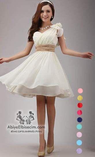 kısa abiye elbise kuşak kemerli şifon rengarek elbise,abiye elbise,mezuniyet elbiseleri,abiye elbise modelleri,ucuz a