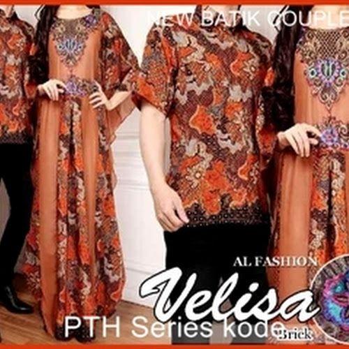 Baju Atasan Wanita Model 0130pth solo batik couple veli keren baju