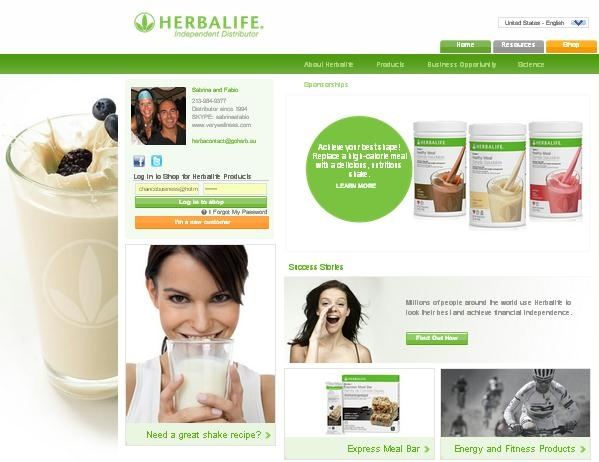 Sabrina & Fabio Herbalife Official Independent Distributor Website  www.goherbalife.com/goherb