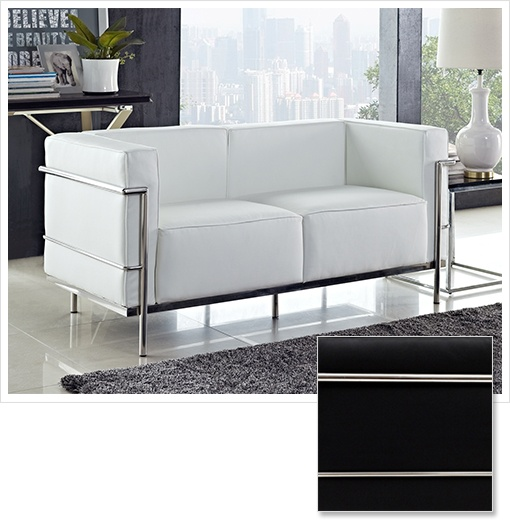 9/10/2012 Furniture Collection  FREE SHIPPING ON ALL FLASH ITEMS    $599.99  + FREE SHIPPING Genuine Leather Le Corbusier LC3 Loveseat – Choice of Black or WhiteFurniture Collection, 9 10 2012 Furniture, Furnituredesign Visitálo, Cubical Loveseats, Lecorbusier Oficina, Living Room, Lc3 Loveseats, Genuine Leather Leathe, Corbusier Lc3