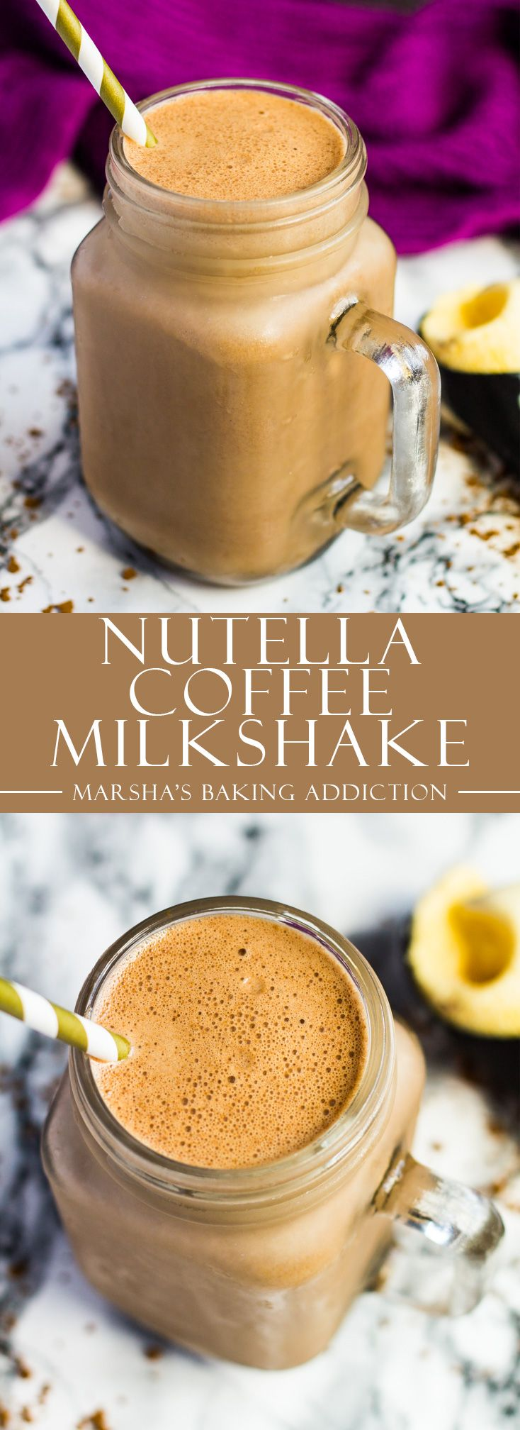 Nutella Coffee Milkshake | marshasbakingaddiction.com @marshasbakeblog