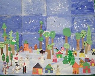 winter class mural