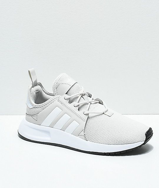 new style 30e6e cab4d adidas Kids Xplorer Light Grey   White Shoes