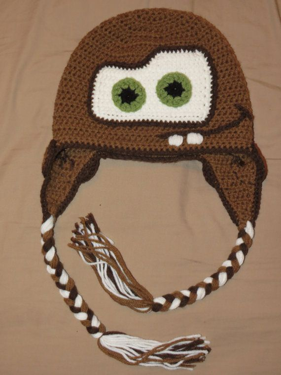 Hey, I found this really awesome Etsy listing at https://www.etsy.com/listing/199121706/mater-crochet-hat-cars