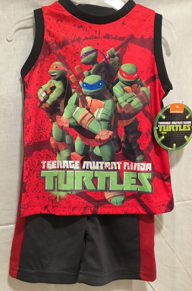 c05e33973f NEW Toddler TEENAGE MUTANT NINJA TURTLES 2 PIECE OUTFIT SHORTS TMNT SIZE 2T  3T #Nickelodeon #TopShortsset #Casual | Baby and Toddler Clothes | Ninja  turtles ...