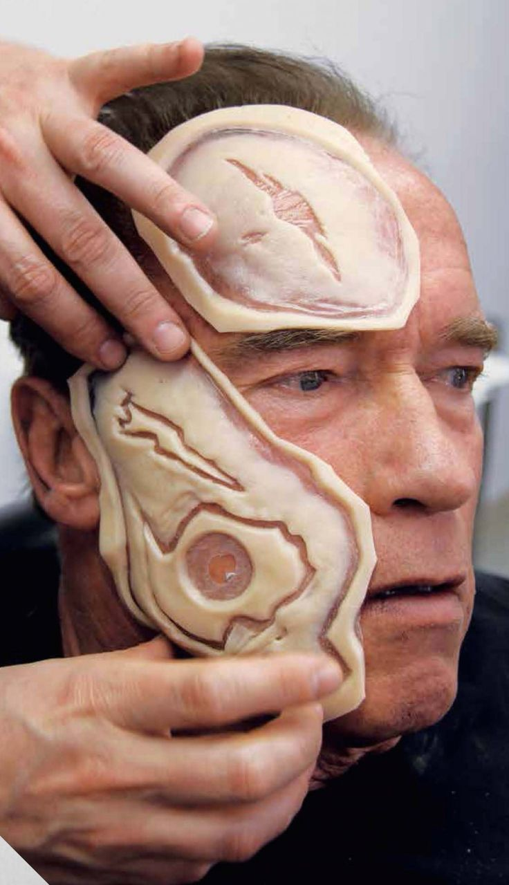 Awesome photos of Arnold Schwarzenegger's makeup transformation for 'Terminator Genisys'