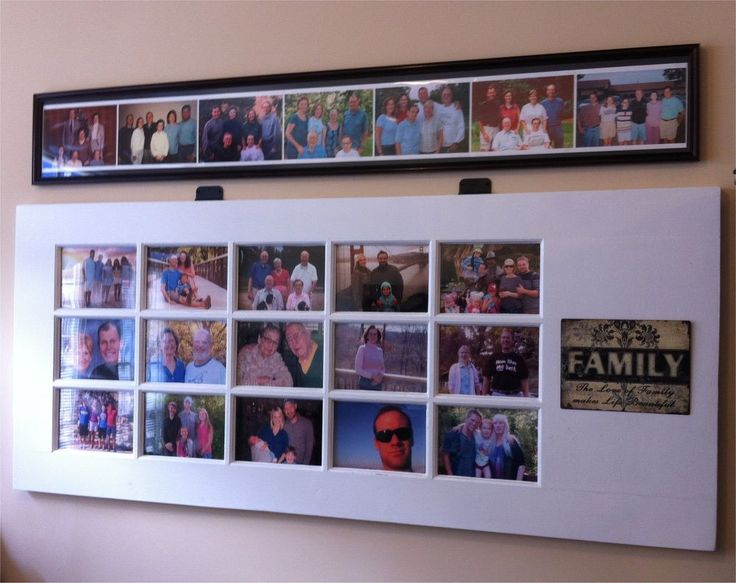 How to Turn An Old Door into A Photo Gallery