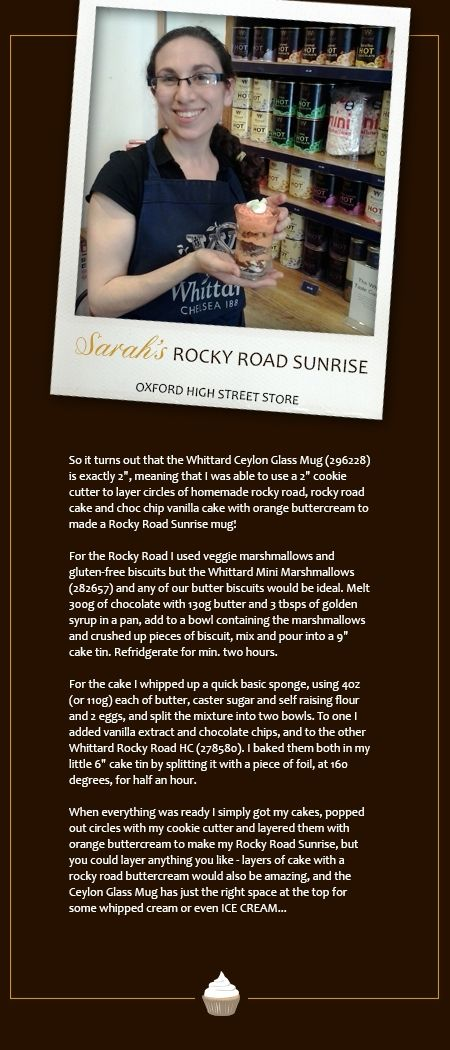 Sarah, from our Oxford store, with her Rocky Road Sunrise in a Mug recipe.