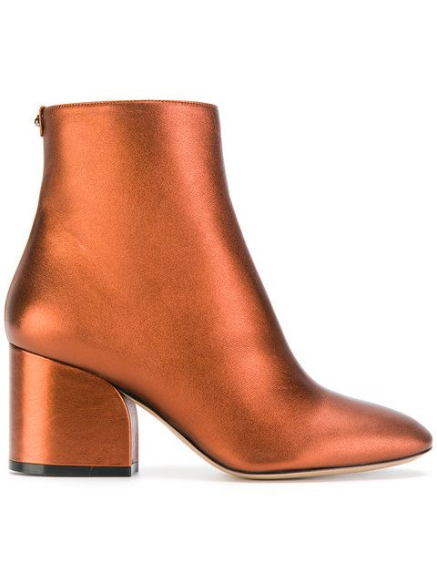 bafb4592 Salvatore Ferragamo Wave Ankle Boots   Boots and Booties   Metallic ...