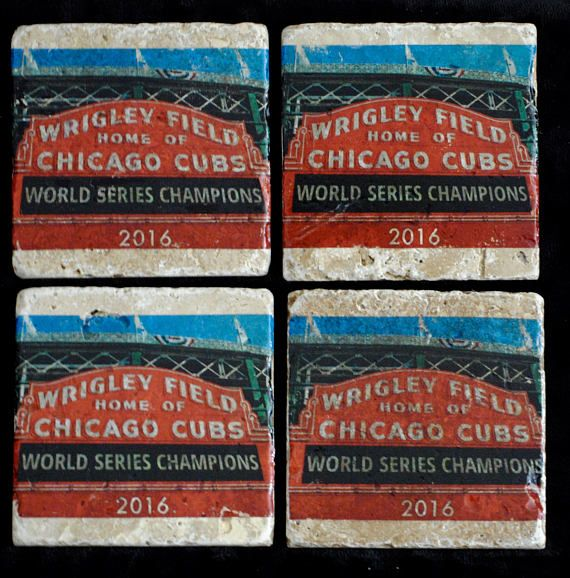 Chicago Cubs World Series Winners Coasters