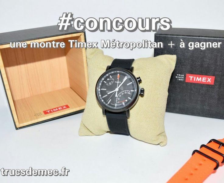 Tentez votre chance afin de remporter la Timex Metropolitan +, une smartwatch au design très urbain qui mesurera votre activité physique.Bonne chance à tous