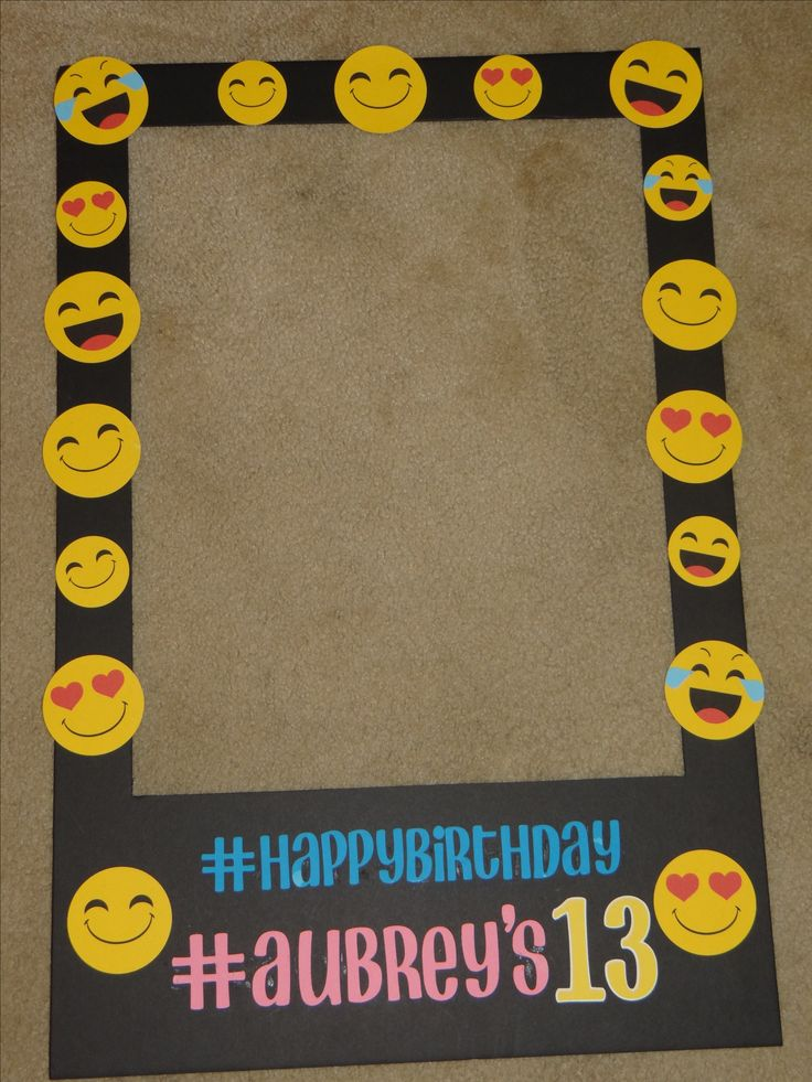 Emoji Polaroid Photo Booth Prop
