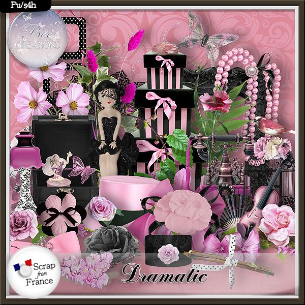 **NEW IN STORES** Dramatic by Bee Creation  Available @ https://www.e-scapeandscrap.net/boutique/index.php?main_page=index&cPath=113_219&zenid=fbc2d845b59e97bbe070191c1e1cbfea http://scrapfromfrance.fr/shop/index.php?main_page=index&manufacturers_id=102 http://digitalscrapdesigns.com/digitalscrapstore/index.php?main_page=index&manufacturers_id=125