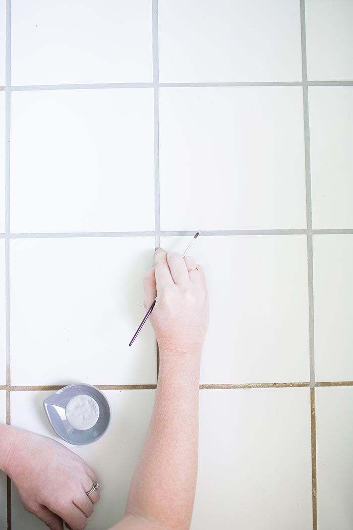DIY Project ~ How To Recolor Your Tile Grout with Paint for a Fresh, New Look