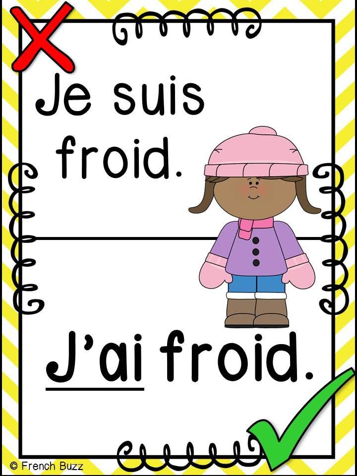 43 affiches sur les anglicismes et expressions fautives communes que les élèves utilisent dans la salle de classe (surtout en immersion française).