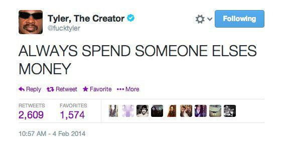 Tyler, the Creator Tweet | Odd future⛳️ | Pinterest | The ...