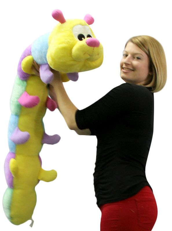Big Plush Personalized Giant Teddy Bears and Custom Large Stuffed Animals - Giant Stuffed Caterpillar 52 Inches Long Huge More Than Four Feet Long Extremely Colorful High Quality and Soft Big Stuffed Animal, $37.11 (http://www.bigplush.com/giant-stuffed-caterpillar-52-inches-long-huge-more-than-four-feet-long-extremely-colorful-high-quality-and-soft-big-stuffed-animal/)