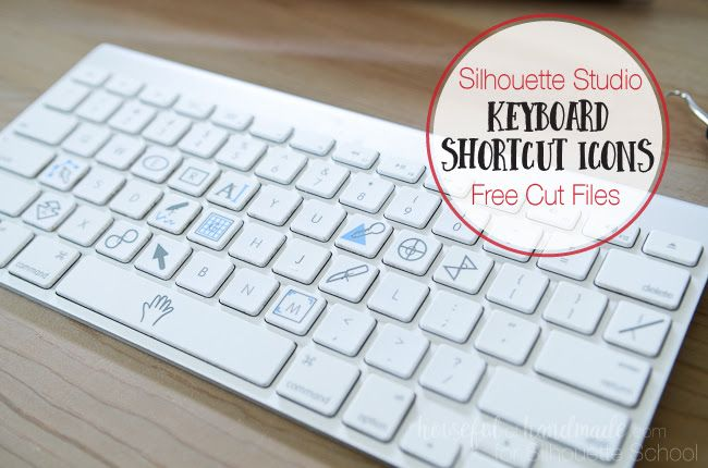 As if a super cute Silhouette Studio keyboard shortcuts printable isn't awesome email, I now have a cut file so you can cut out the tools in vinyl and place them right on your keyboard! You can thank