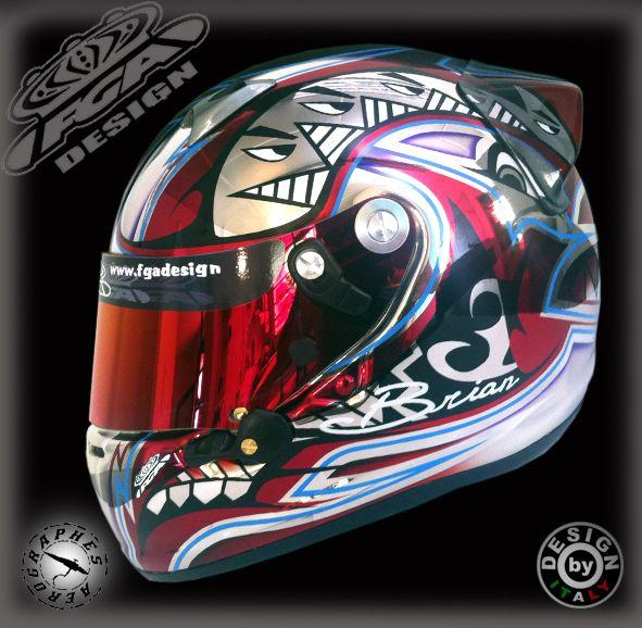 Peinture pilote karting, Brian