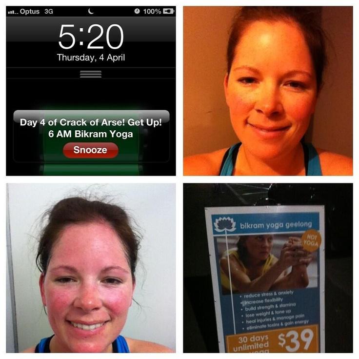 @Sharon Tonkin day 4 of #crackofarse started with a #bikram yoga class!