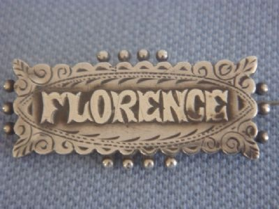 Victorian Silver Name Pin: kinda cool