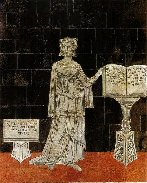 Sybilla Eritrea. Serie della Sibille (1482-1483), Pavimento del Duomo di Siena