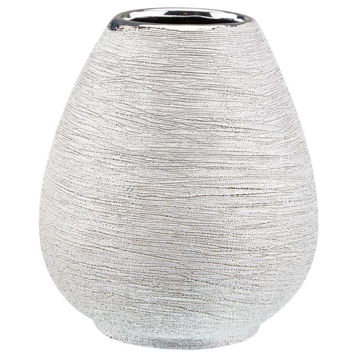Textured Metallic Table Vase/Table Vases/Vases/Home Accents Bouclair.com