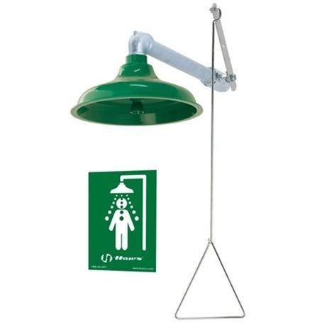 Haws 8122 AXION MSR Drench Shower w/ Plastic Showerhead Universal Mount  http://www.eyewashdirect.com/Haws-8122-Safety-Shower-Eye-Wash-Station-p/8122.htm