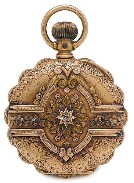 Elgin Ladies 14K Gold Cased Pocket Watch - Cowan's Auctions