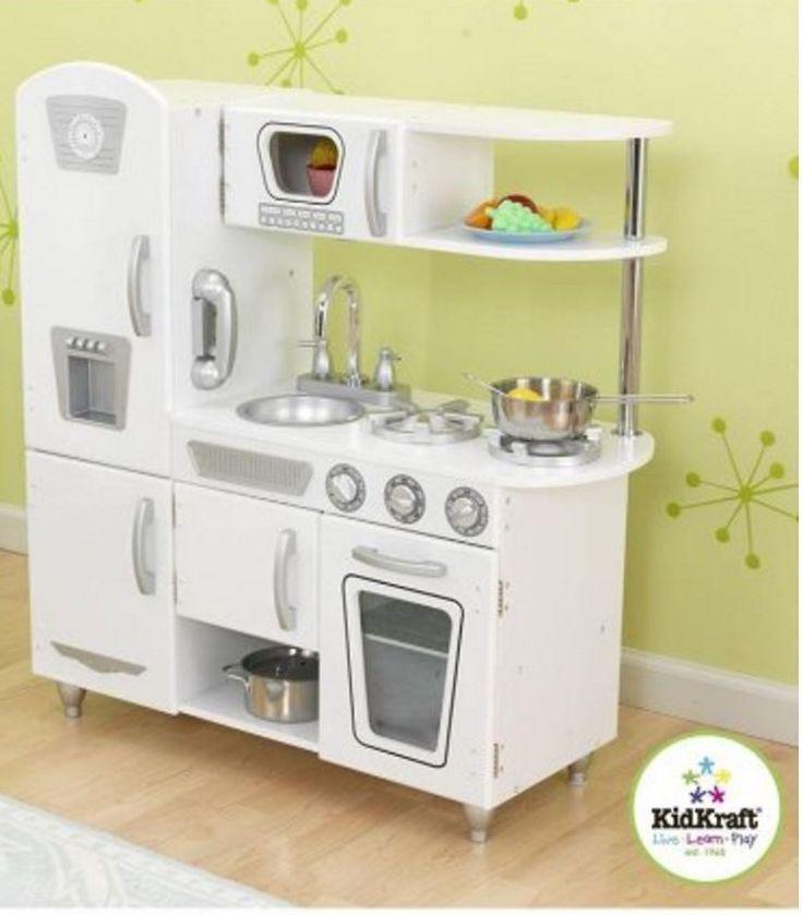 Kitchen Playsets For Toddlers Girls Boys Sets Children KidKraft Vintage  White